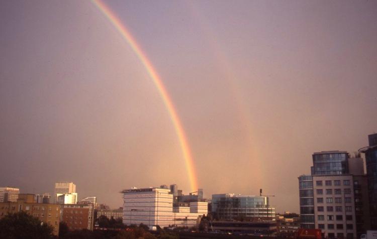 Rainbow over Paddington basin 10.04 2