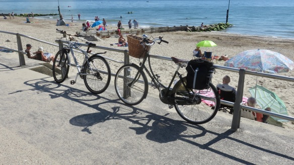Bicycles and beach
