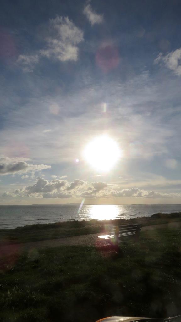 Sunburst over Christchurch Bay