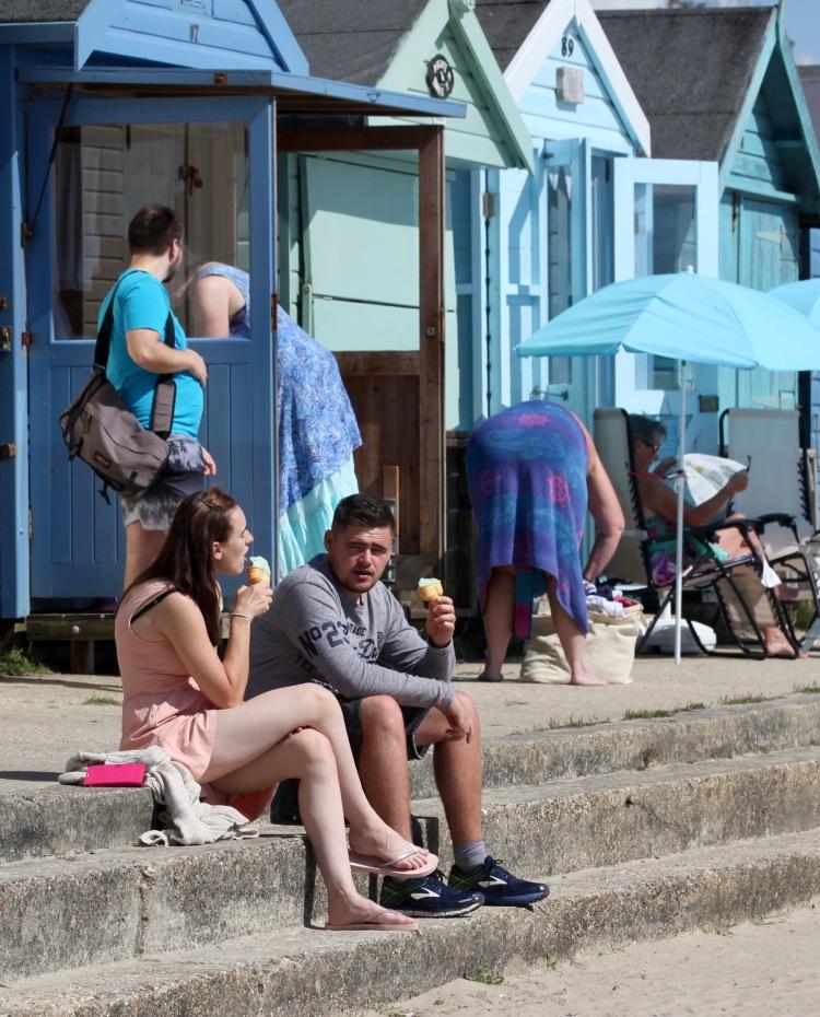 Ice creams at the beach huts