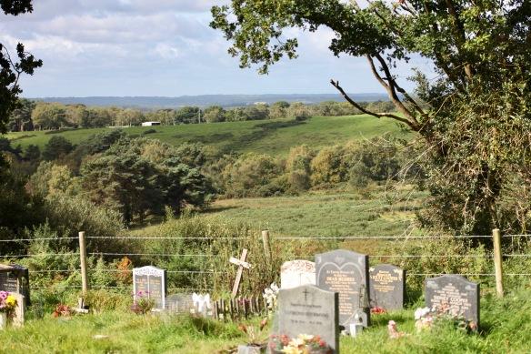 Graveyard and landscape 1