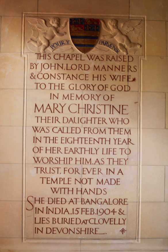Inscription to Mary Christine Manners