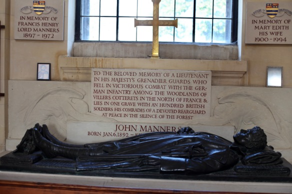 Inscription to and effigy of John Manners