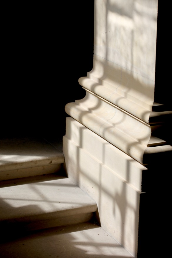 Shadows on pillar and steps