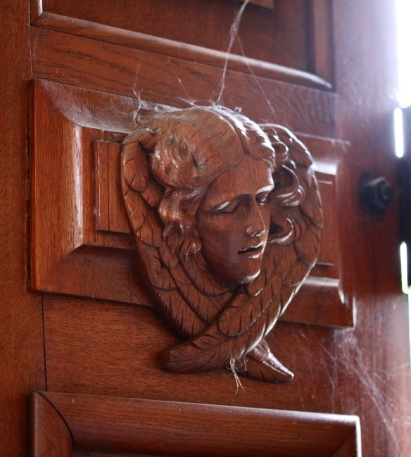 Mary Christine Manners carving and spider