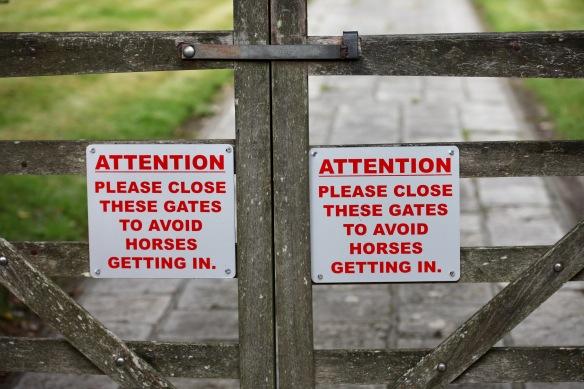 Please close these gates
