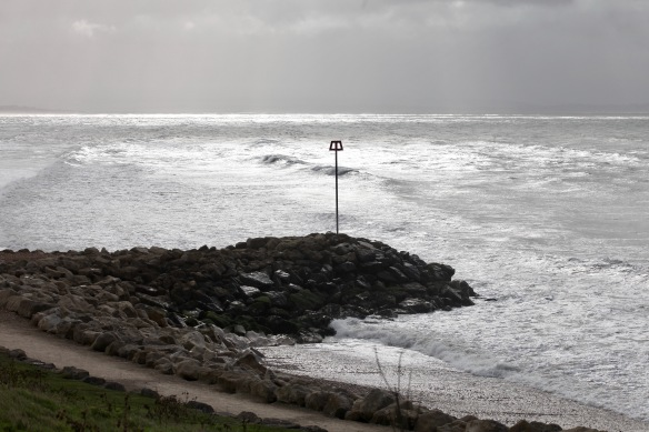 Seascape and breakwater