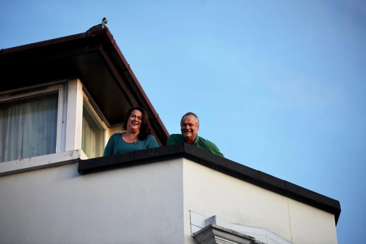 Becky and Ian on balcony