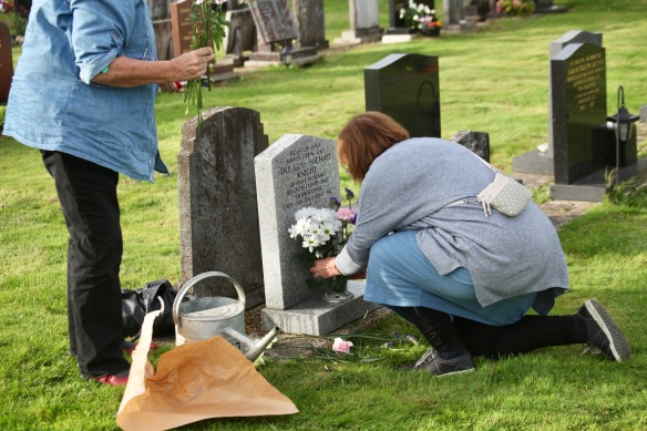 Elizabeth and Jackie arranging flowers 5