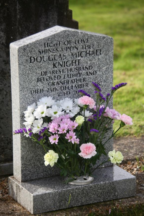 Flowers on Dad's Gravestone
