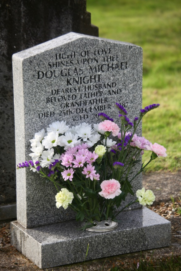 Flowers on Dad's Gravestone