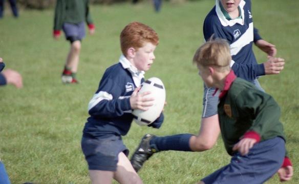 Facing a tackle