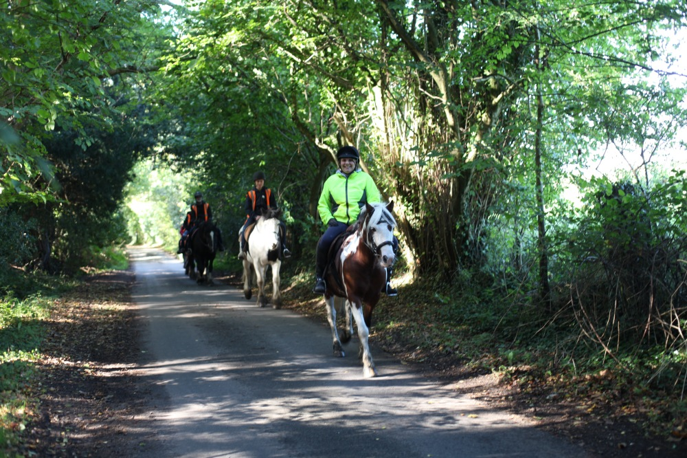 Horse riders on Charles's Lane