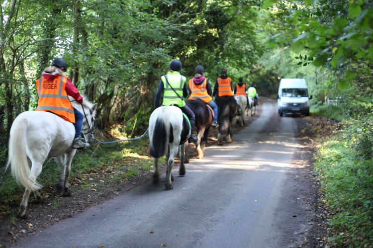 Horse riders on Charles's Lane 4