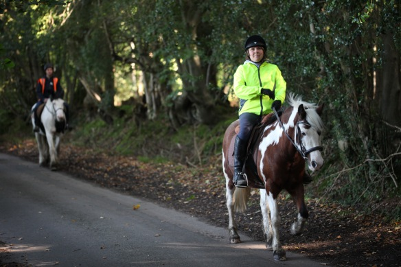 Horse riders on Charles's Lane 7