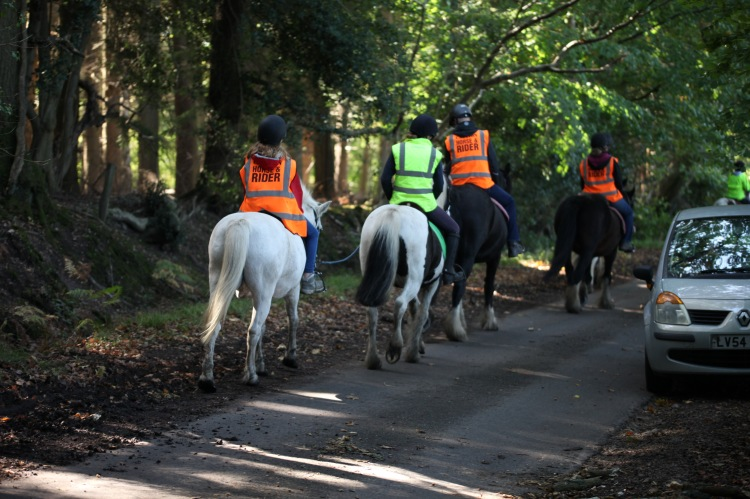 Horse riders on Charles's Lane 8