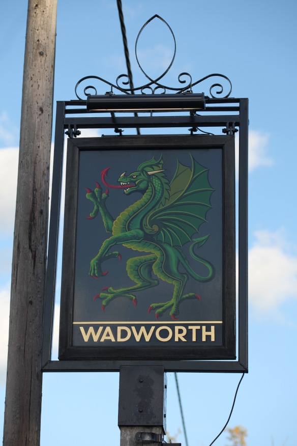 The Green Dragon pub sign