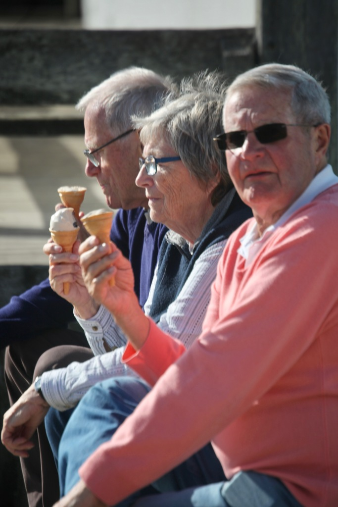 Group with ice creams