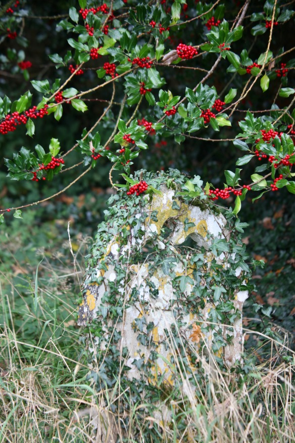 Gravestone, holly