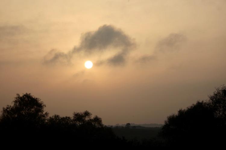 Sun disc and landscape 1