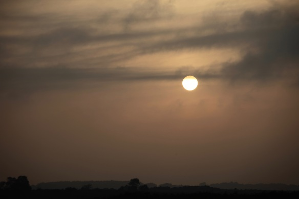 Sun disc over horizon
