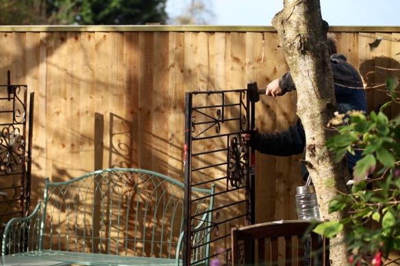 Aaron building arbour