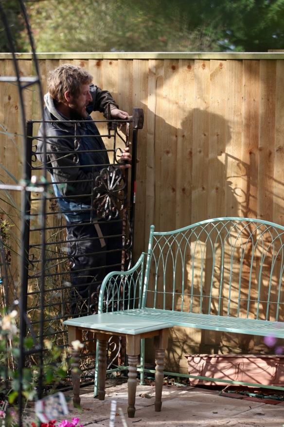 Aaron building arbour 2