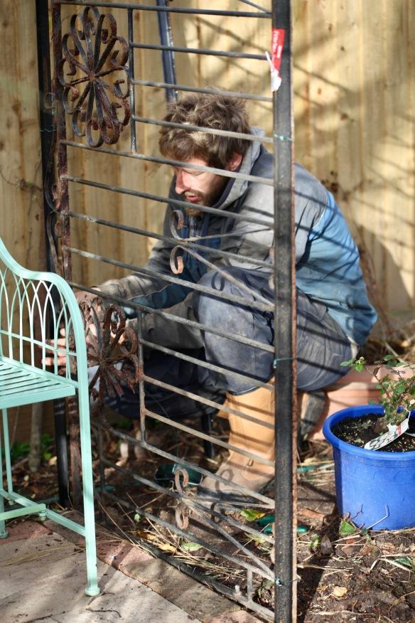 Aaron building arbour 3