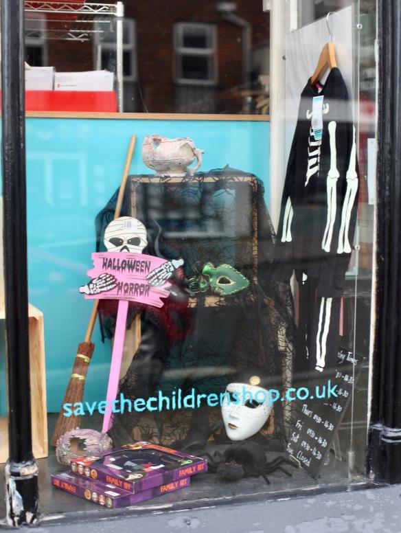 Save The Children shop window