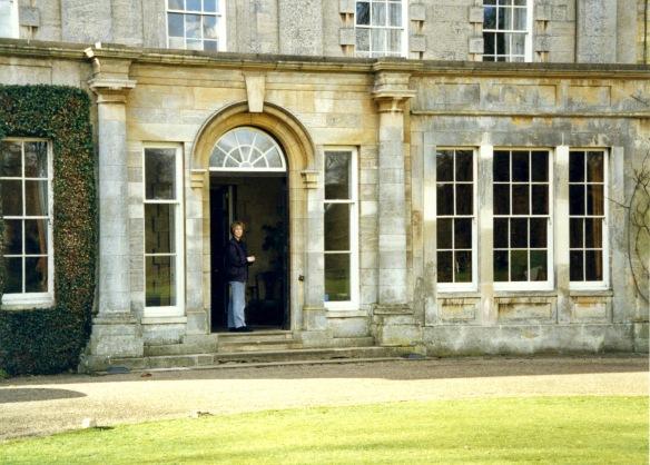 Mary Fry in doorway