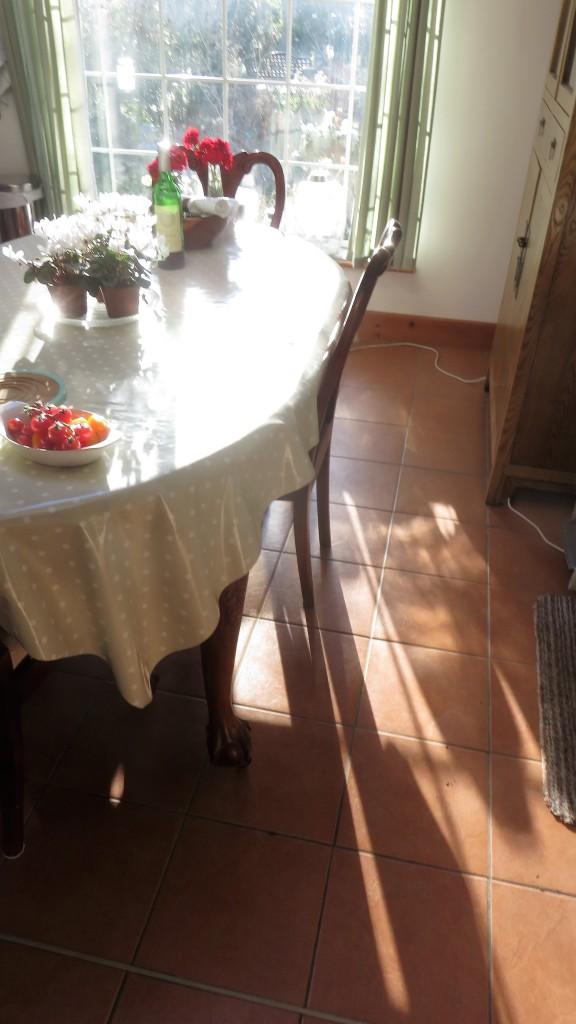 Kitchen floor shadows