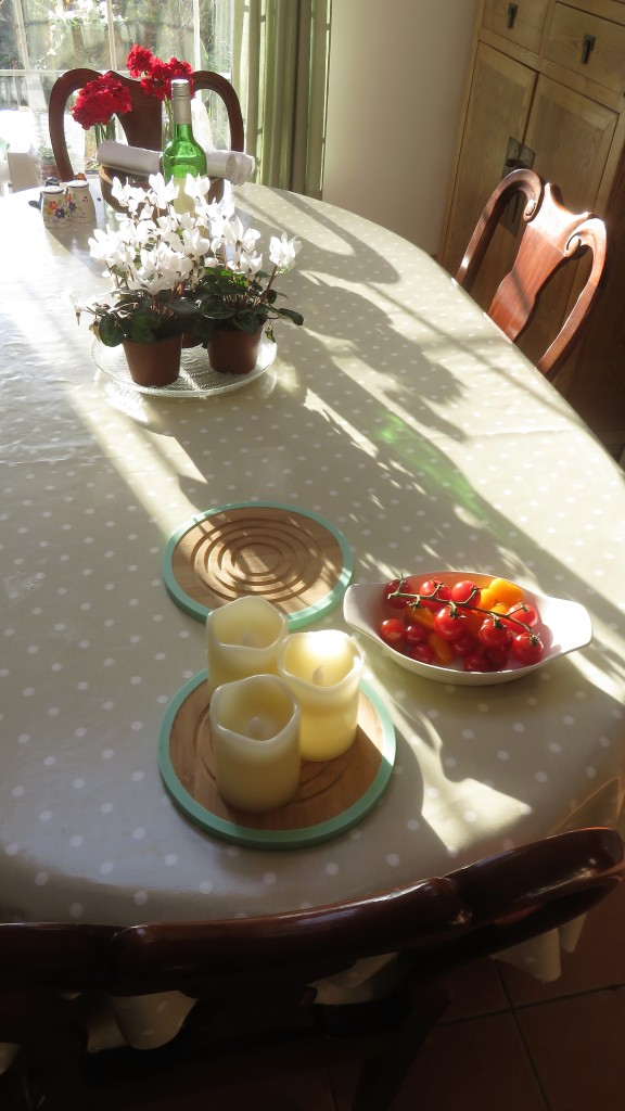 Kitchen table shadows