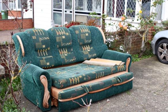 Sofa in front garden