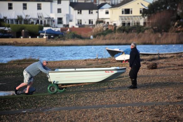 Beaching boat