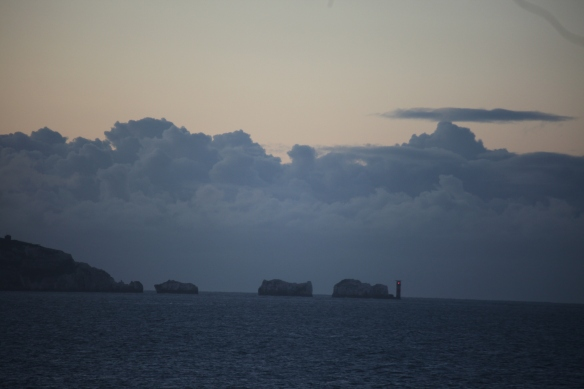 Isle of Wight and The Needles before sunrise