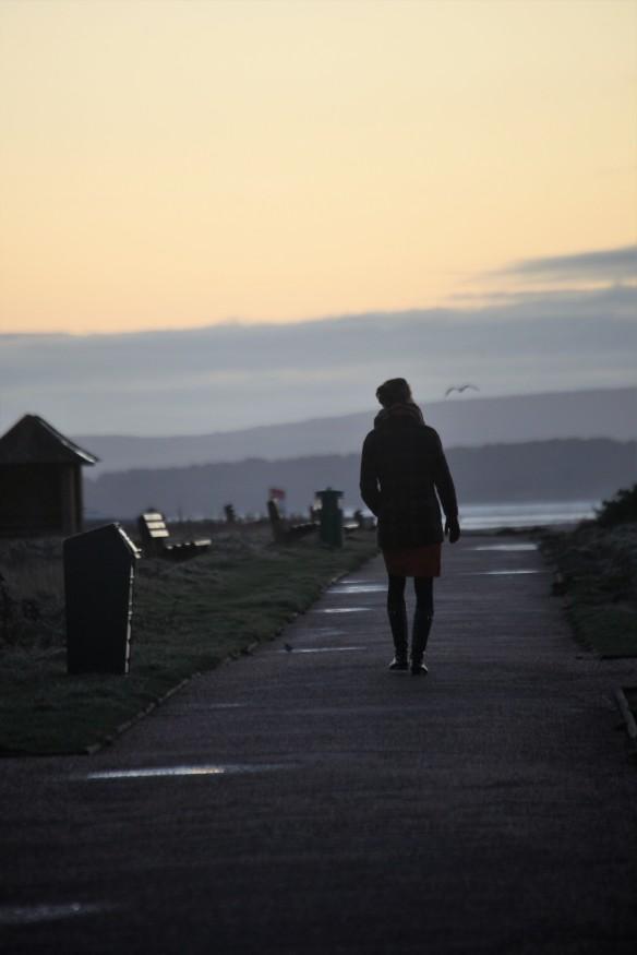 Walker at sunrise 2