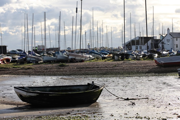 Rowing boat and yachts