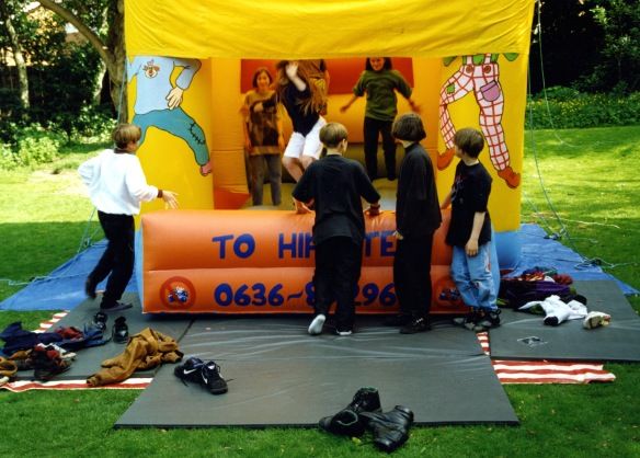 Bouncy Castle with children 1