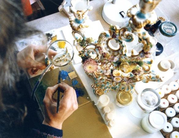 Jessica painting ceramic 1