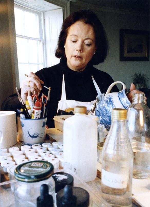 Anna Hackett at work 1