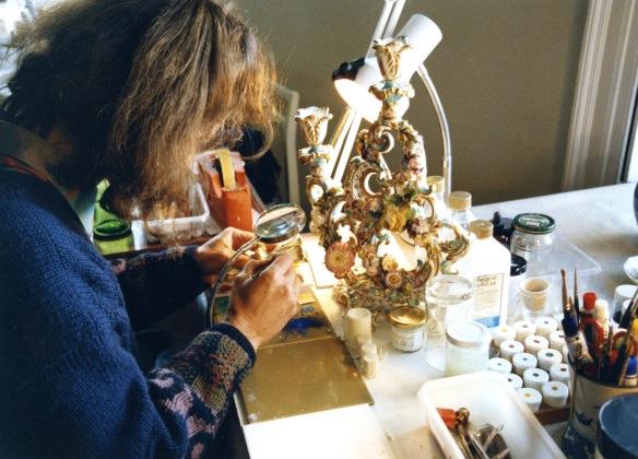 Jessica painting ceramic 2