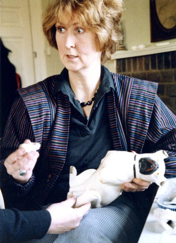 Mary Fry and broken ceramic dog