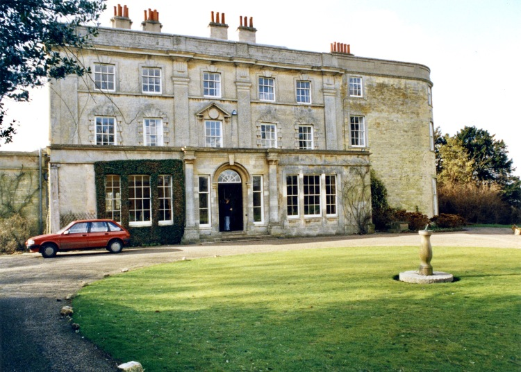 Fulbeck Hall (Mary Fry in doorway)