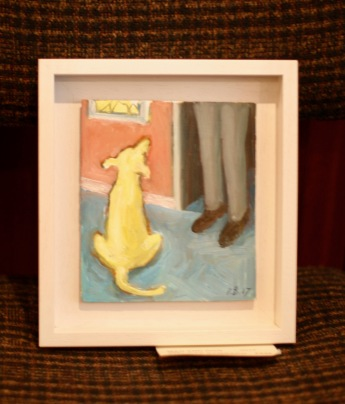 First Gallery Christmas Show 2017 3 Dog painting