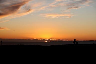 Sunset, silhouette 2