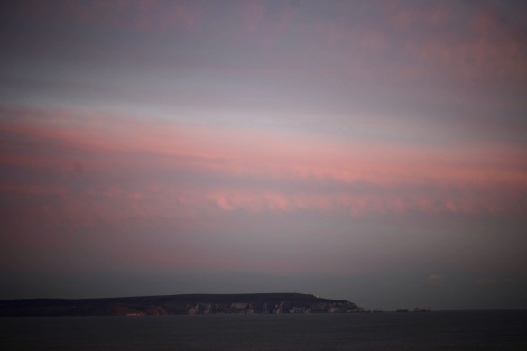 Isle of Wight at sunset
