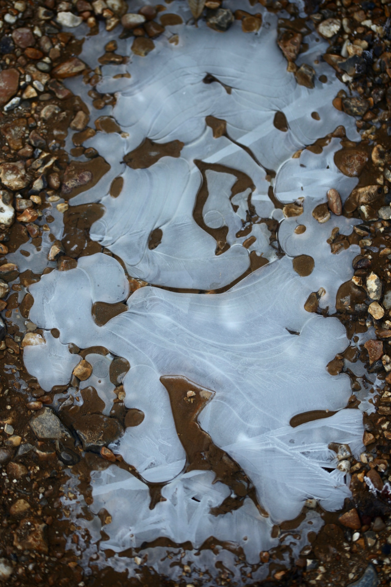 Ice on gravel 3