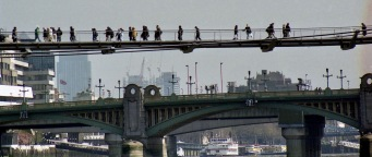 (Wobbly) Millennium Bridge and Southwark Bridge