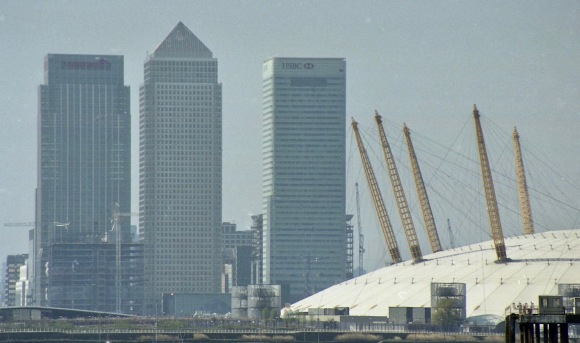 Canary Wharf and Millennium Dome 6.4.02