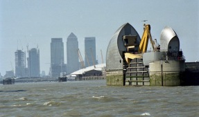Thames Barrier and Canary Wharf 6.4.02 1